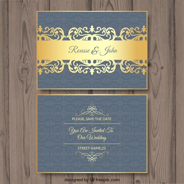 Luxury wedding invitation vector free download luxury wedding invitation free vector stopboris Choice Image