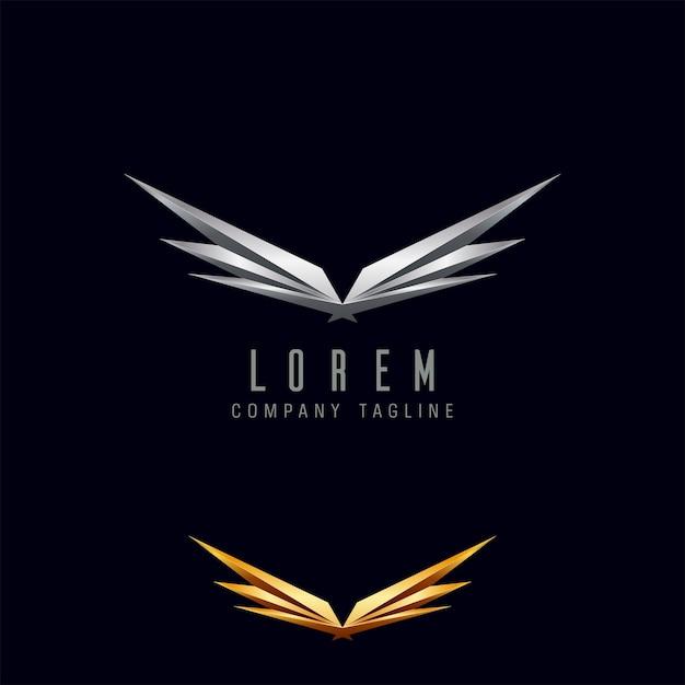 Luxury Wings Logo Design Concept Template Vector Premium Download