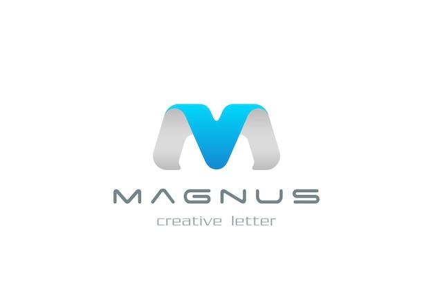 Icona con il logo della lettera m. Vettore gratuito
