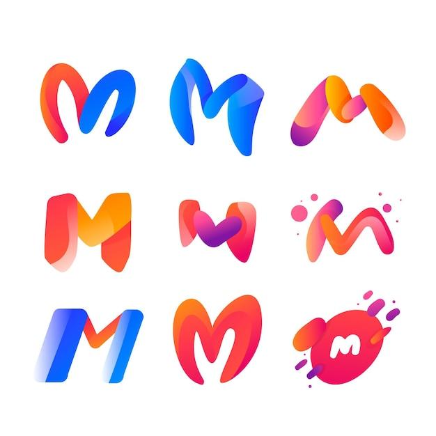 Коллекция логотипов m Бесплатные векторы