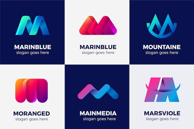 M logo collection Free Vector