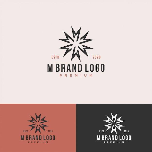 М монограмма начальный королевский логотип набор Premium векторы