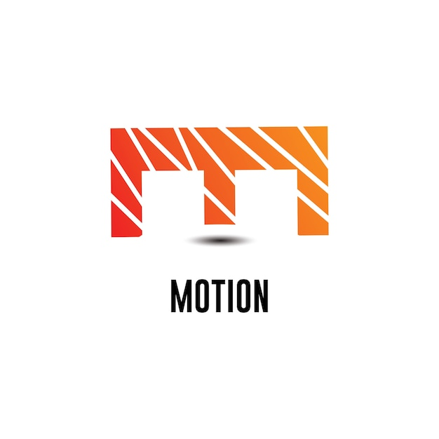 M Motion Logo Template Design Vector Premium Download