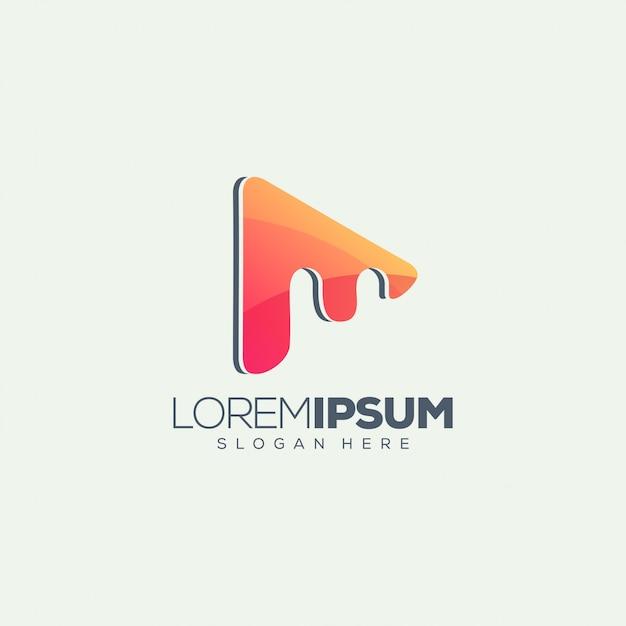 Mメディアロゴデザイン Premiumベクター