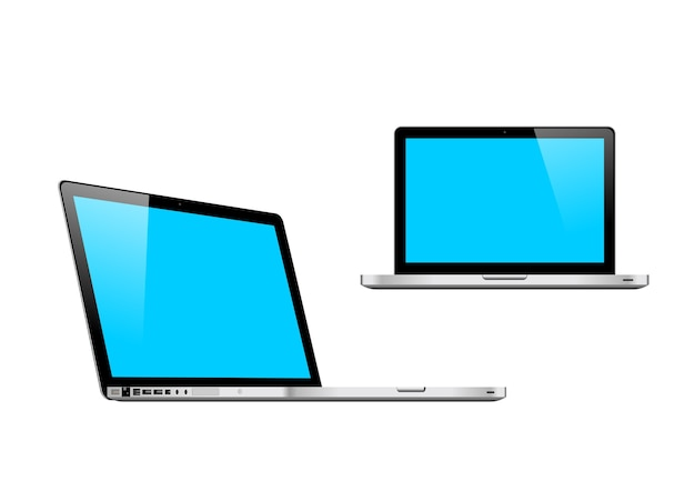 Macbook mockup Premium Vector