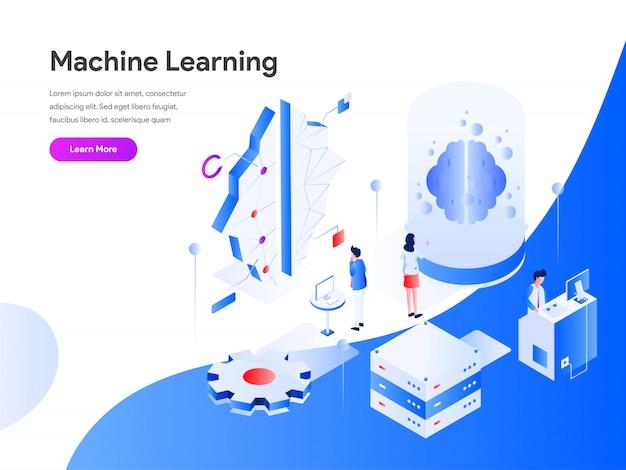 Machine learning isometric Premium Vector