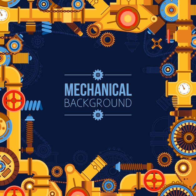 Machinery parts background Free Vector
