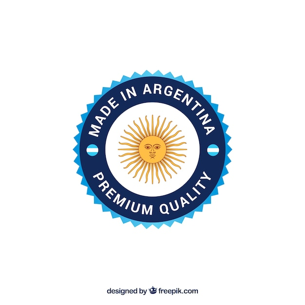 Made in argentina label Free Vector