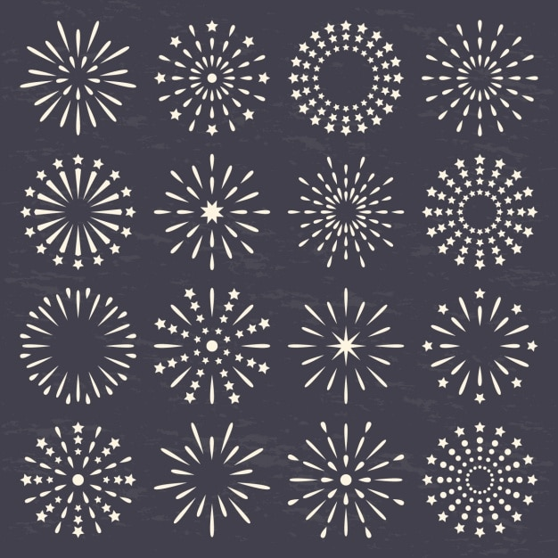 Made circles with lines and dots Free Vector
