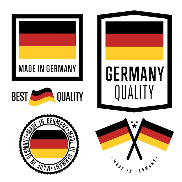 Made in germany label set Premium Vector