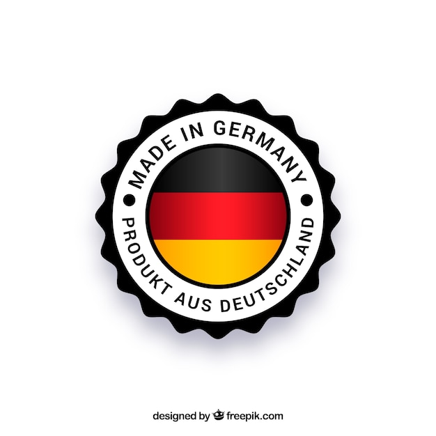 Made in germany label Free Vector