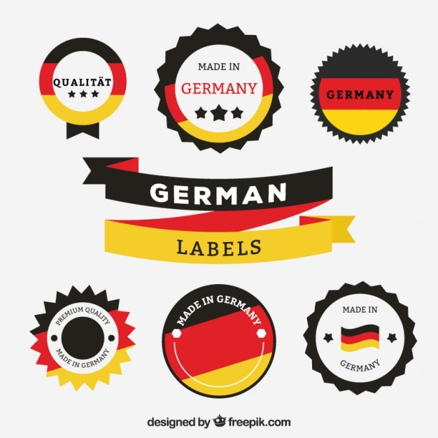 Made in germany labels Free Vector