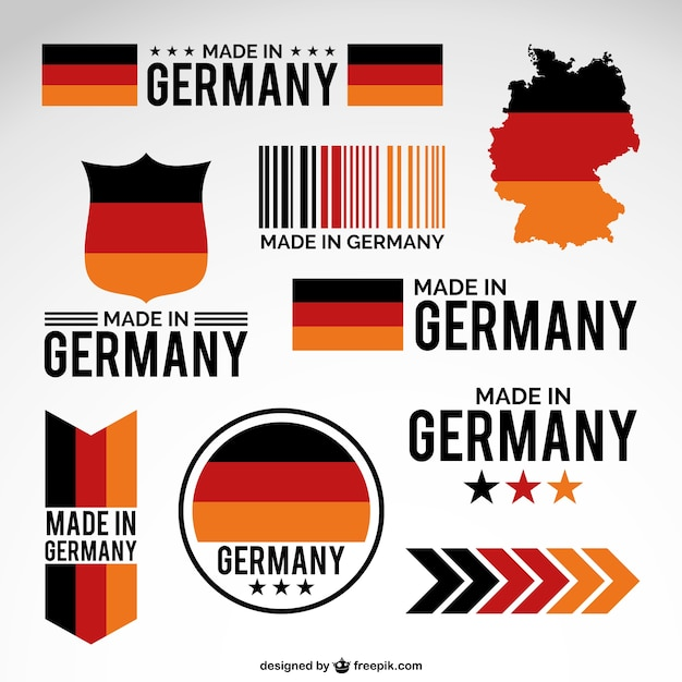 Made in germany Free Vector