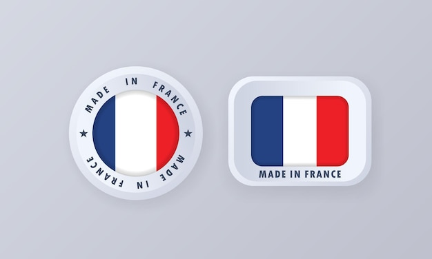 Сделано во франции иллюстрация Premium векторы