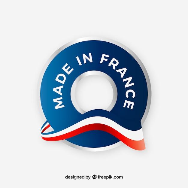フランスのレーベル製 Premiumベクター