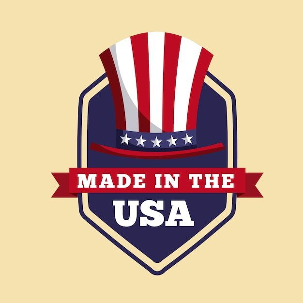 Made In The Usa Design Vector Premium Download