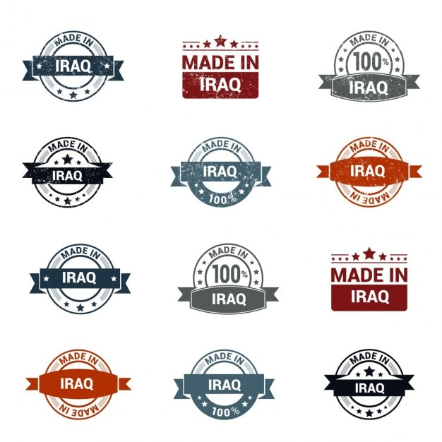 Made in iraq stamp Free Vector