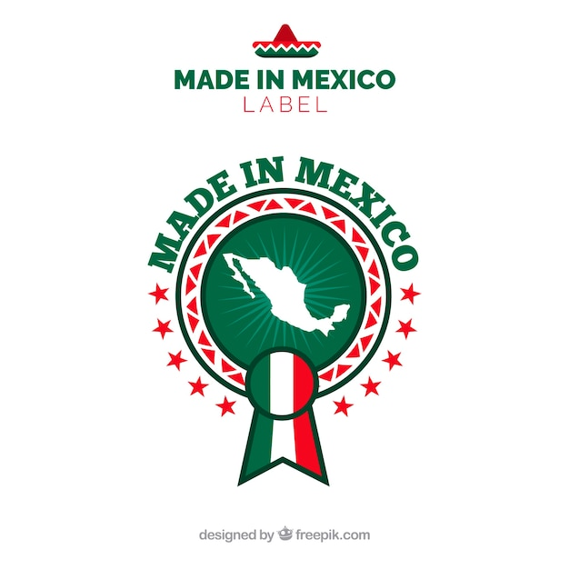 Made in mexico label Free Vector