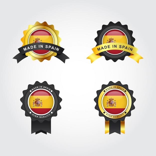 Made in spain label illustration template Premium Vector