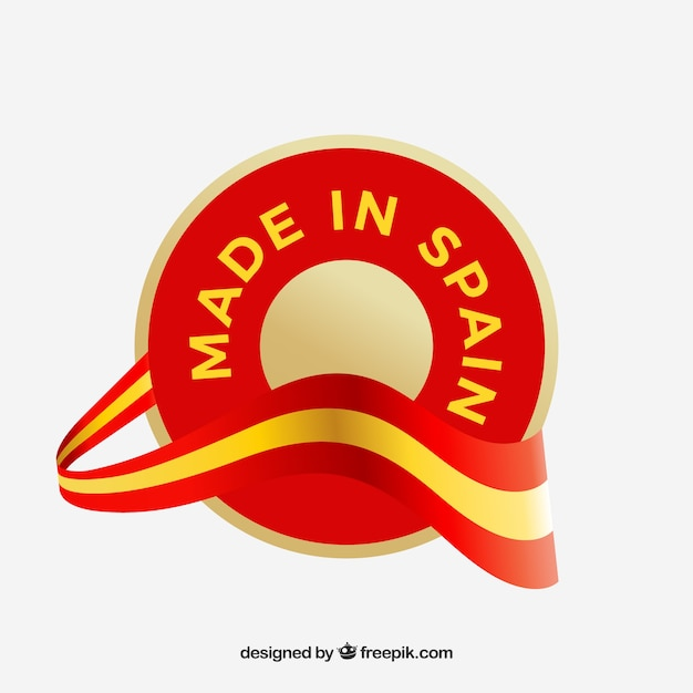 Made in spain label Free Vector