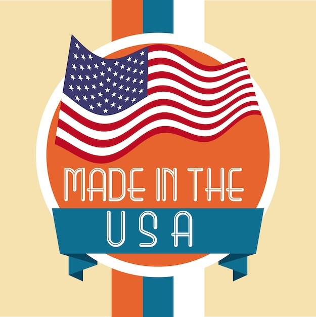 Made in the usa design Premium Vector