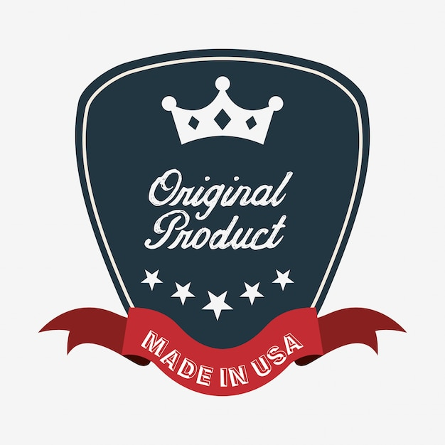 Made in usa design Free Vector