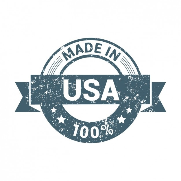 Made in usa grunge badge Free Vector