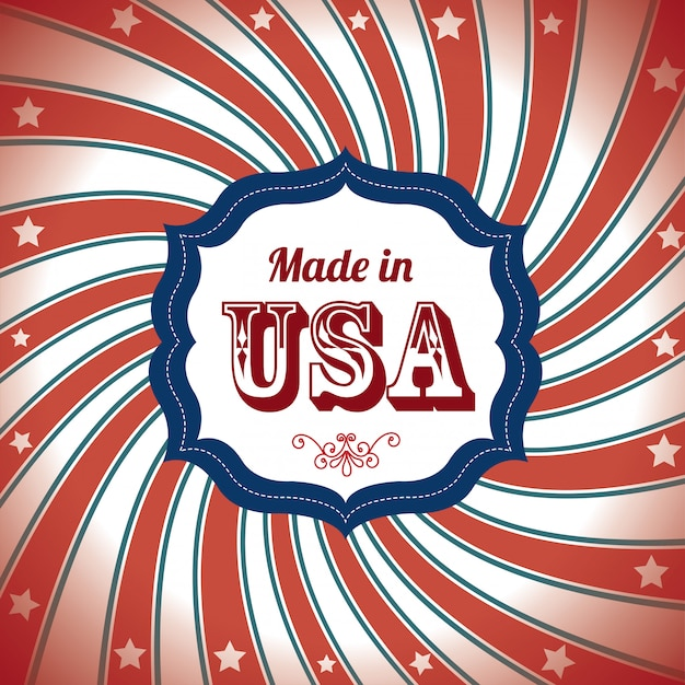 Made in usa Premium Vector