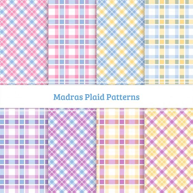 Madras plaid pattern Premium Vector