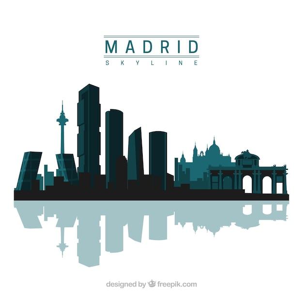 Free Vector Madrid Skyline Design
