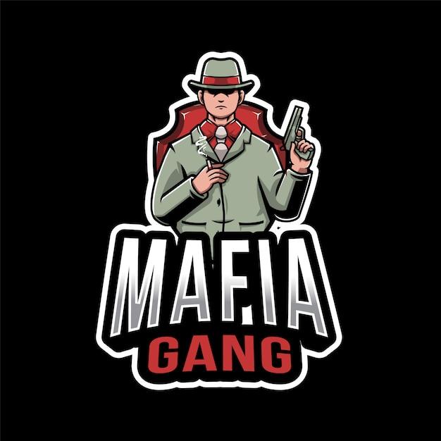 Mafia gang esport logo Premium векторы