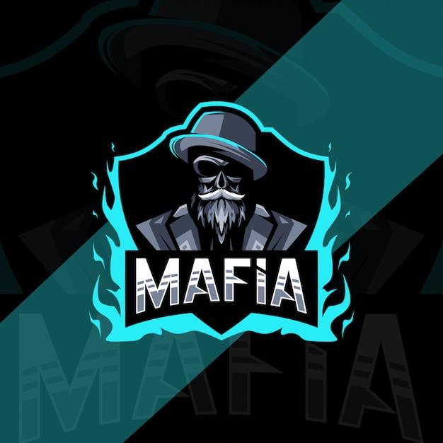 Mafia mascot logo esport design Premium Vector