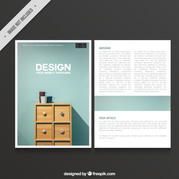 Magazine Of Design Vector Free Download