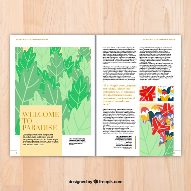 Magazine pages template Vector | Free Download