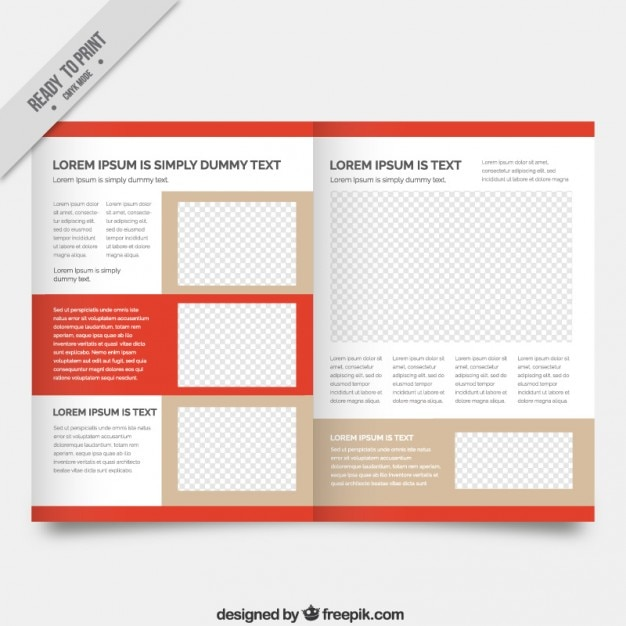 Magazine template with red details vector premium download for E magazine templates free download