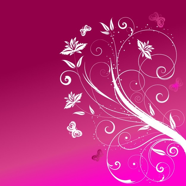 Fuschia Pink Background Flowers pink floral background vector vector ...