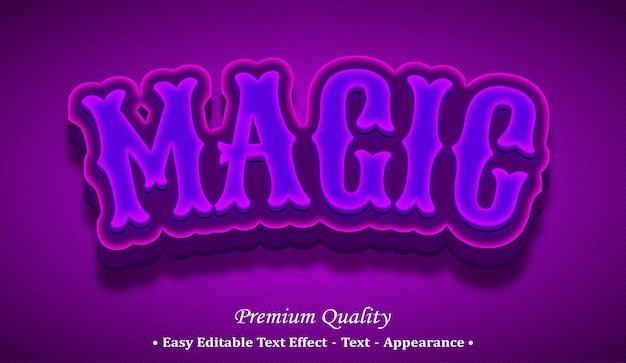 Magic 3d editable text style effect Premium Vector