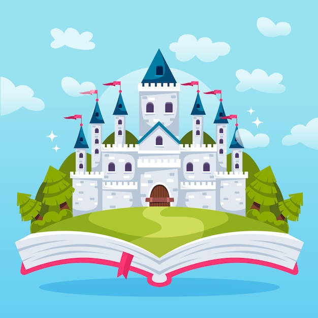 Magic fairytale concept Free Vector