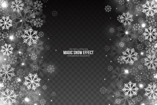 Magic falling snow effect Premium Vector