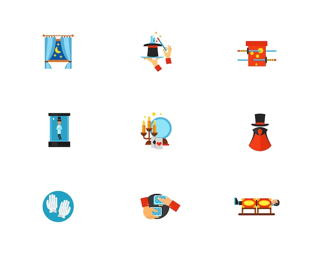 58aaf0671192cb Magic icon set Vector | Free Download