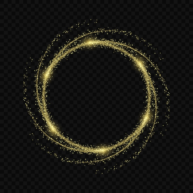 Magic light glow effect stars bursts with sparkles isolated on transparent background. light trace Premium Vector