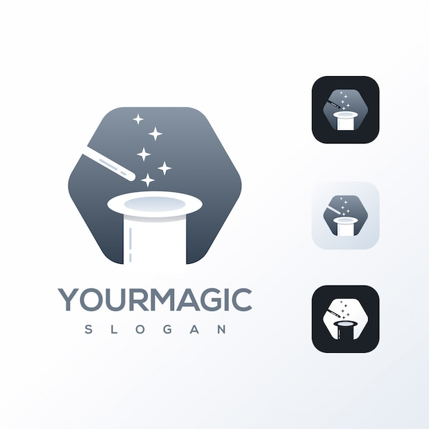 Magic logo design template ready to use Premium Vector