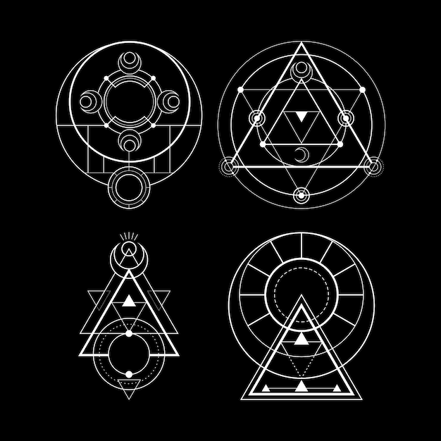 magic moon symbol Premium Vector