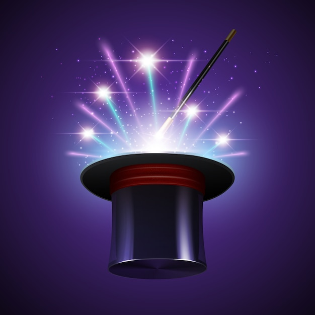 Magic show background Free Vector
