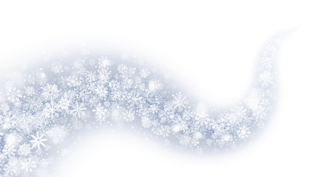 Magic swirling snow effect abstract white background Premium Vector