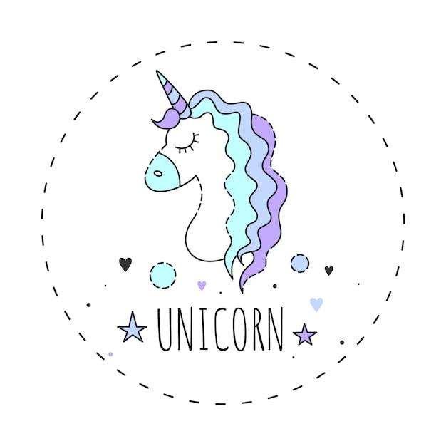 Magic unicorn. Premium Vector