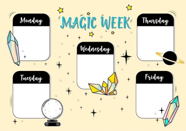 Magic week Premium Vector