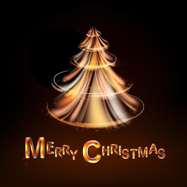 Magical christmas tree Vector | Premium Download