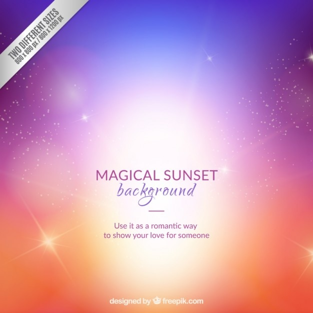 Magical sunset background