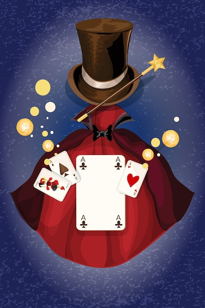 Magician From The Crystal Visions Tarot: Magician Decorative Colored Background With Cylinder Wand